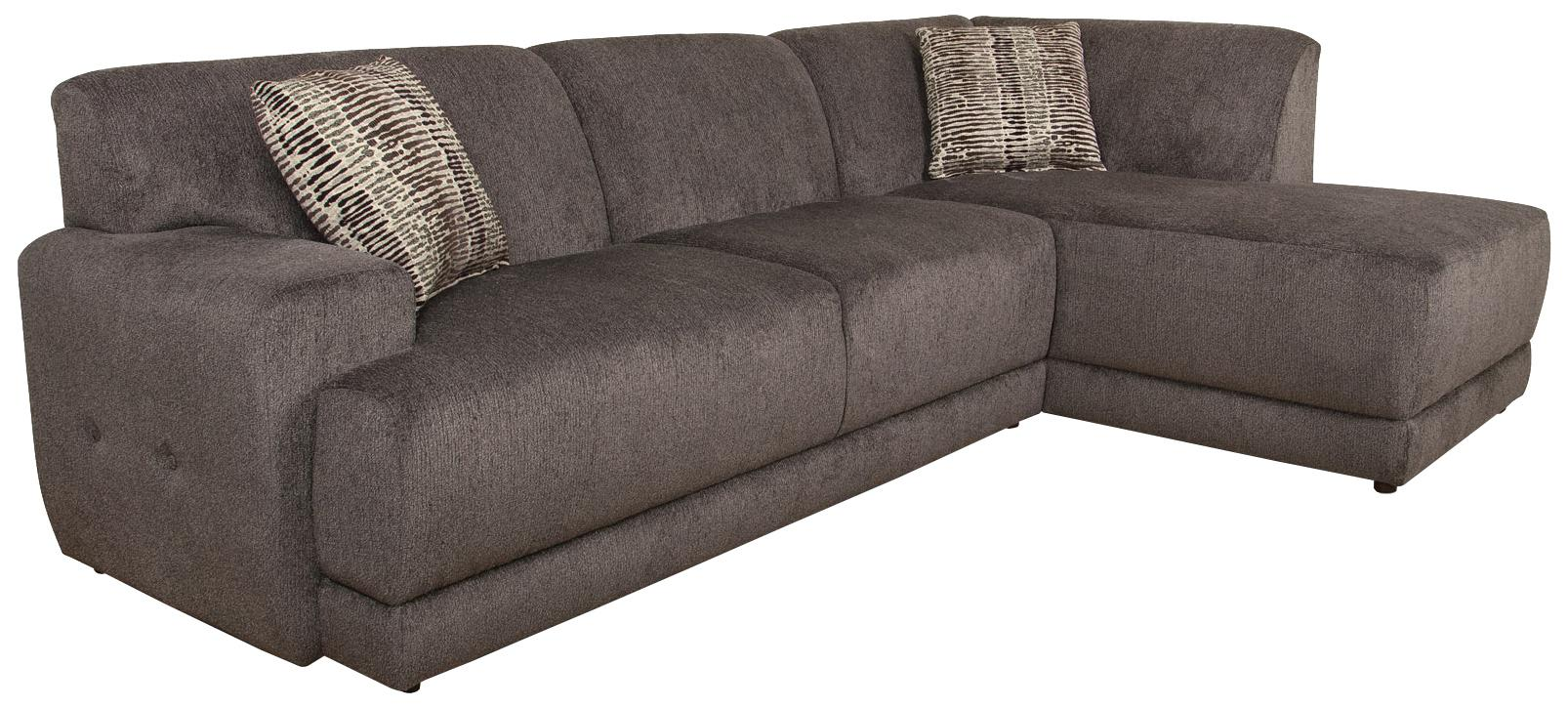 England Cole  Sectional Sofa with Right Facing Chaise - Item Number: 2880-24+05