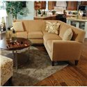England Collegedale 2-Piece Sectional - Item Number: 6200-27+64