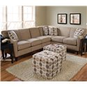 England Collegedale Contemporary Sectional - Item Number: 6200-39+28+63