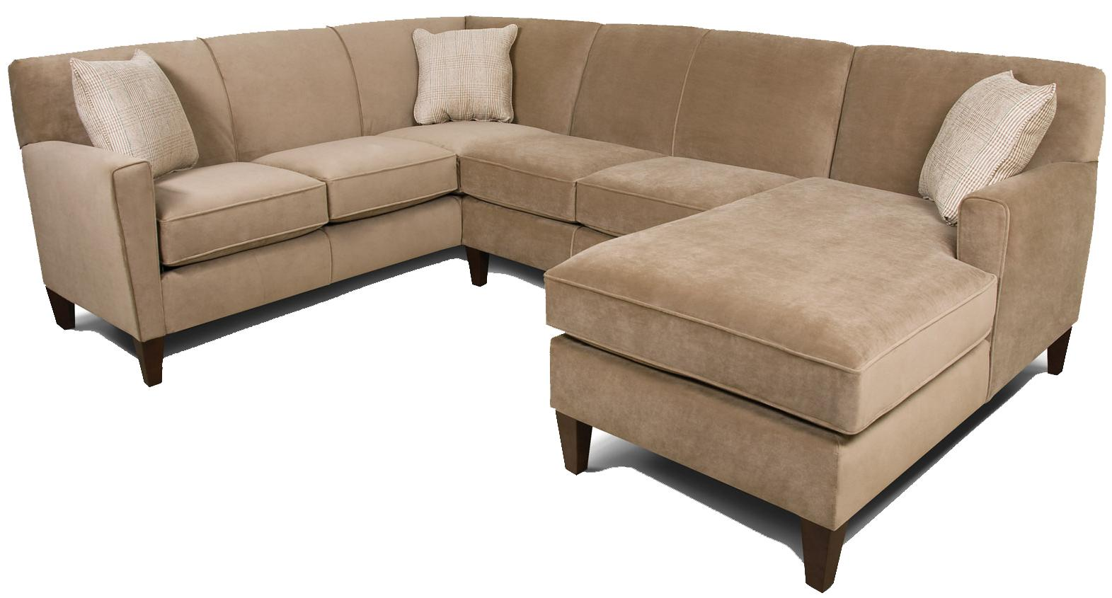England Collegedale 3pc Sectional Sofa - Item Number: 6200-64+43+05