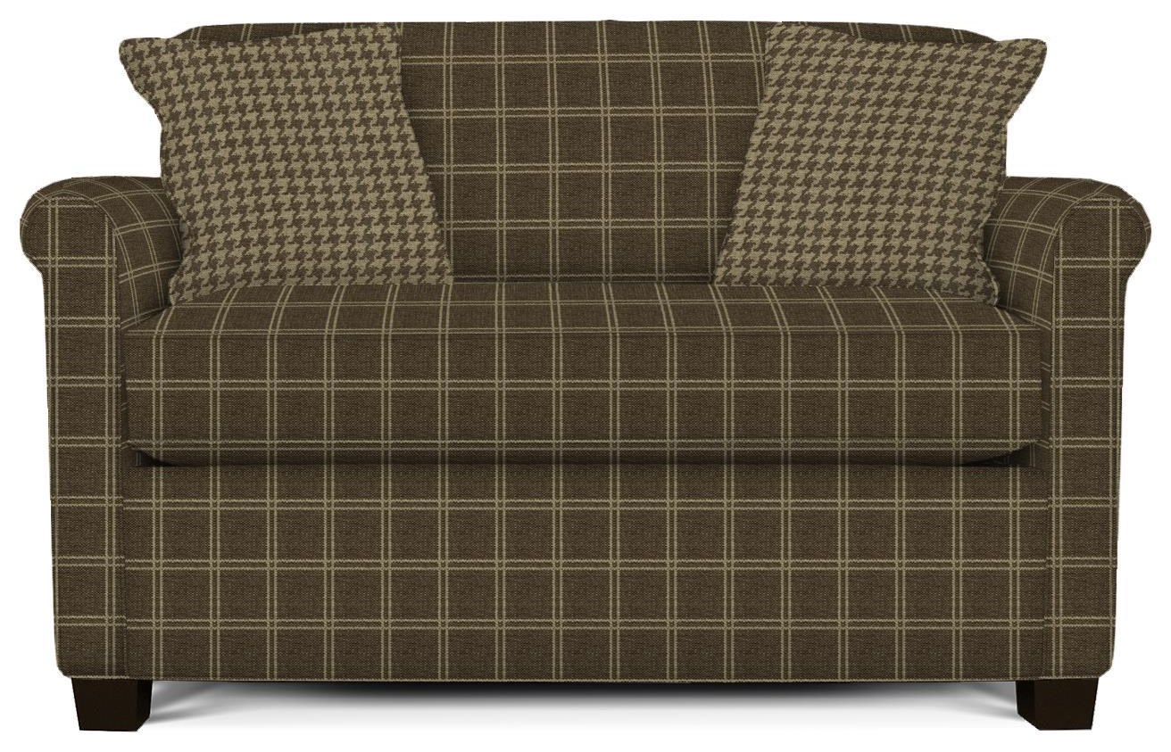 England Cunningham Rolled Back Loveseat - Item Number: 3C26-Waleview-Coral