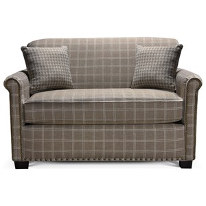 Rolled Back Loveseat with Nailheads