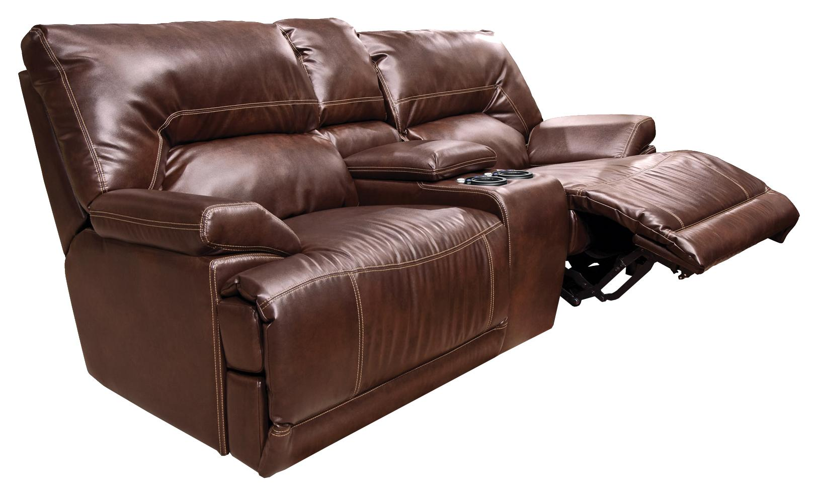 England Davis  Power Double Reclining Loveseat Console - Item Number: 681086P L