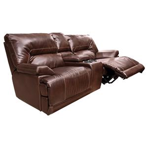 England Davis  Power Double Reclining Loveseat Console
