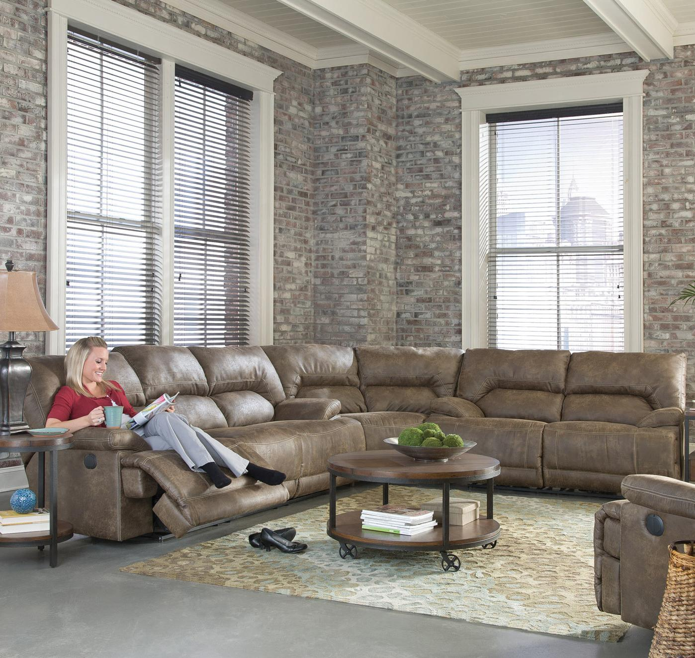 England Davis Sectional Sofa - Item Number: 6811+6810-20+6813