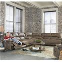 England Davis Sectional Sofa with 6 Seats (4 Recline) - Sectional Sofa Shown May Not Represent Exact Features Indicated