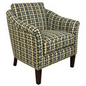 England Denise  Decorative Chair and Ottoman Set with Chic Transitional Style - Chair Shown Separately