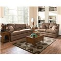 England Drake Upholstered Love Seat - Shown with Sofa