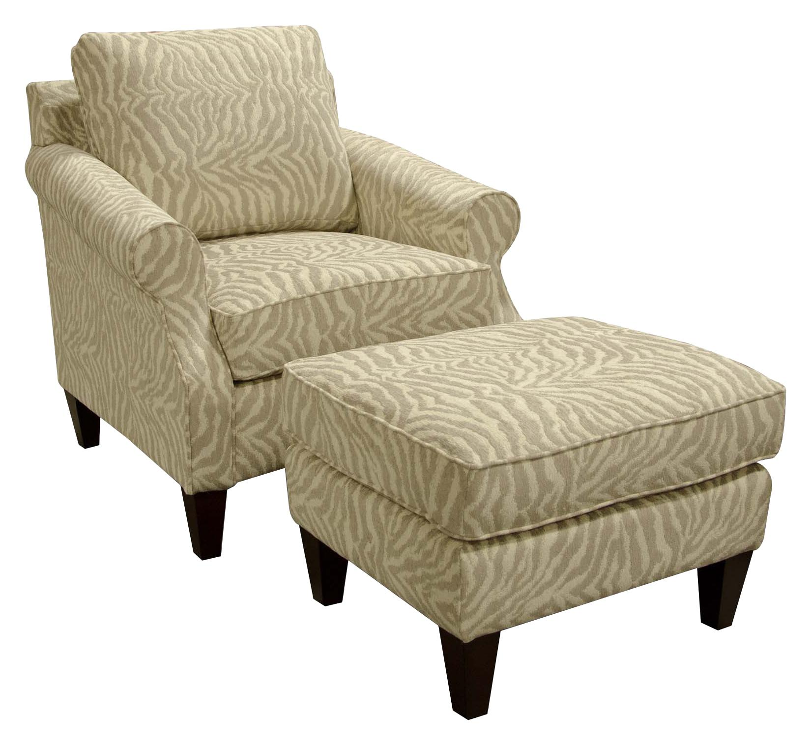 England Duke Living Room Chair and Ottoman - Item Number: 3134+3137