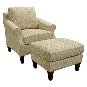 England Duke Living Room Chair and Ottoman