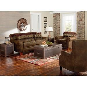 England Edgar Stationary Living Room Group