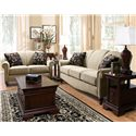 England Eliza Traditional Upholstered Rocking Loveseat - Shown with Coordinating Collection Sofa