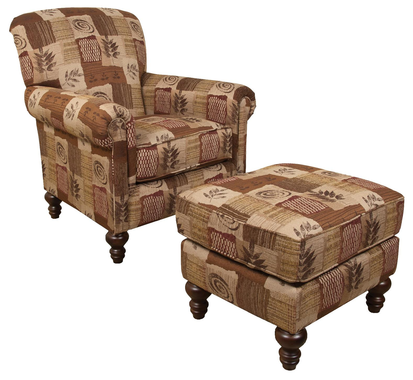 England Eliza Chair and Ottoman Set - Item Number: 634+637