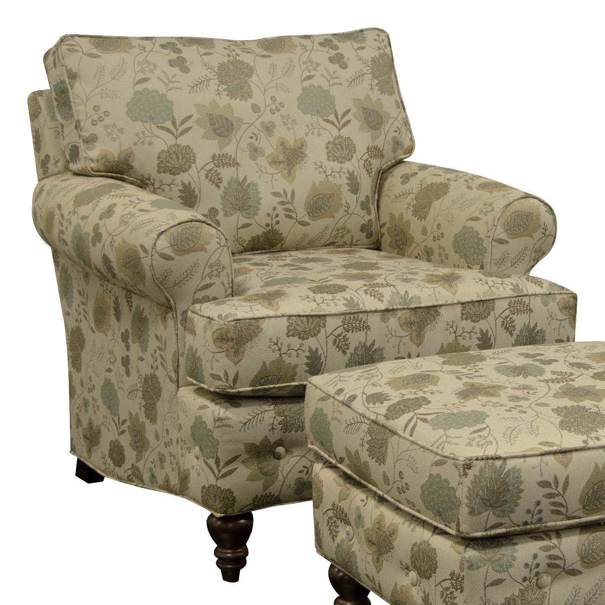 England Evans Living Room Chair - Item Number: 8484 Claire Wasabi