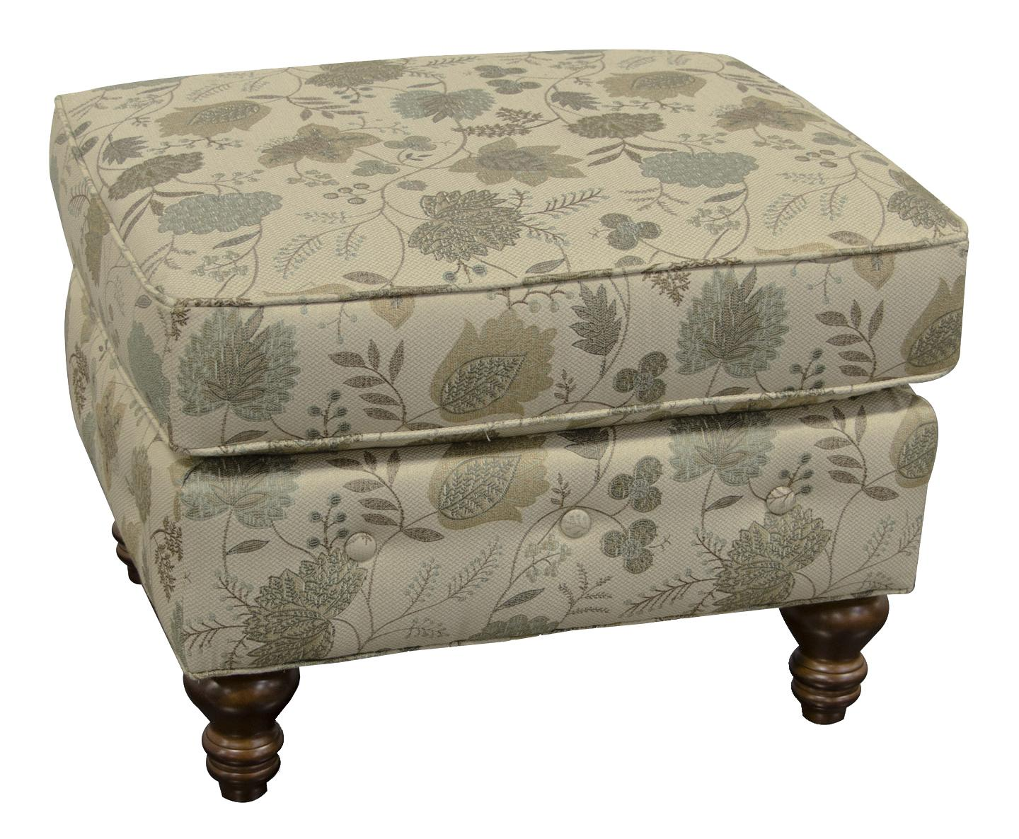 England Evans Living Room Ottoman - Item Number: 8487 Claire Wasabi