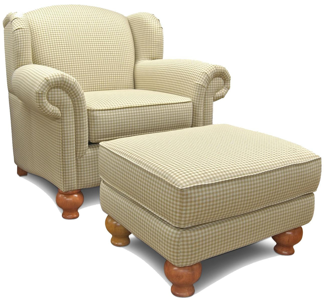England Fairview Chair and Ottoman - Item Number: 3004+7
