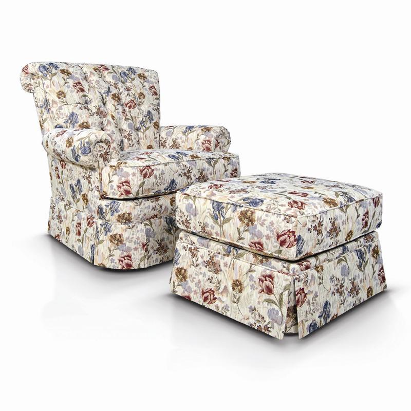 England Fernwood Tufted Chair Amp Ottoman W Skirt Dunk
