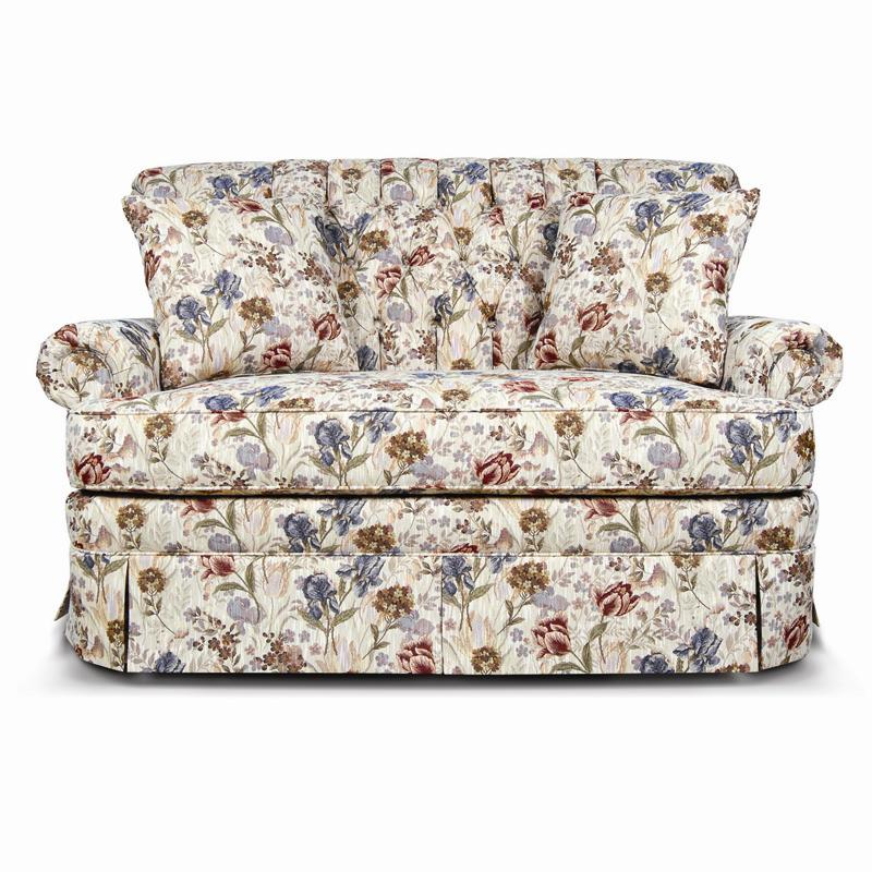 England Fernwood 1156 Loveseat With Skirt Dunk Amp Bright