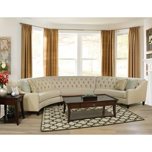England Finneran 3 Piece Curved Sectional Sofa