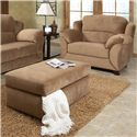 England Geoff  Extra Large Cozy Chair & 1/2 with Casual Furniture Style - Shown with Coordinating Collection Storage Ottoman