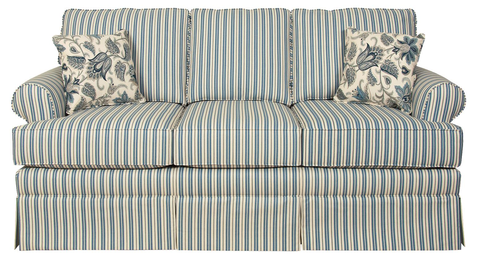 England Grace 5348 Full Sleeper Sofa With Rolled Arms