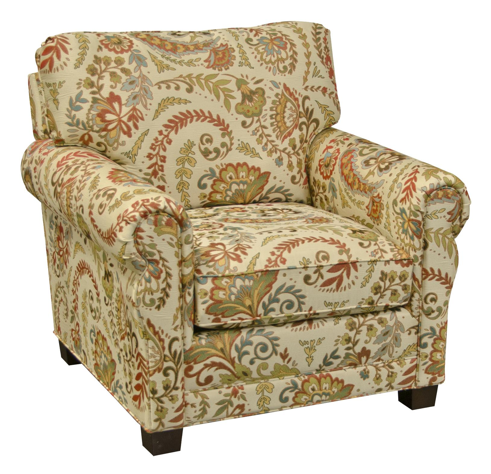 England Green 6934 Living Room Arm Chair Dunk Amp Bright
