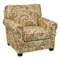 England Green Living Room Arm Chair - Item Number: 6934