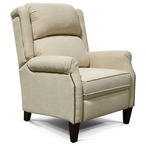 Cottage Styled Recliner with Nail Heads