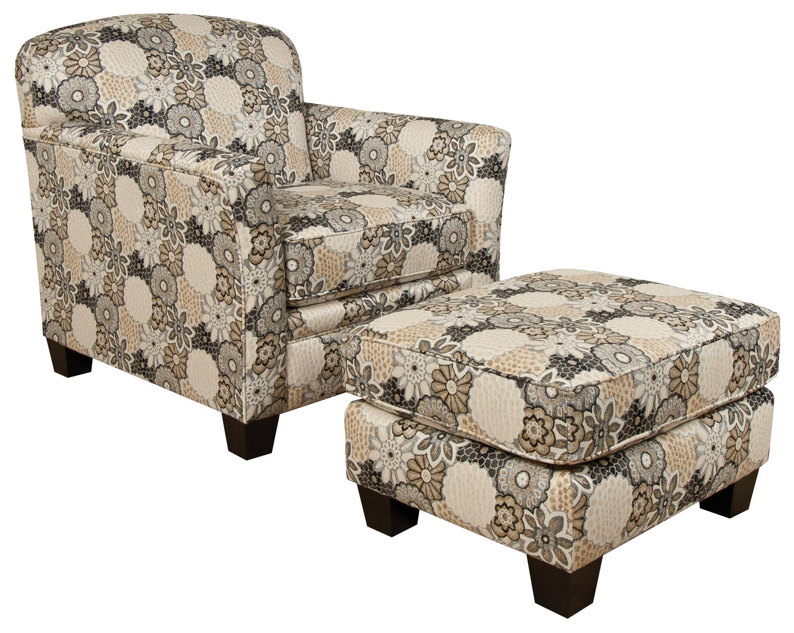 England Hilleary Chair and Ottoman Set - Item Number: 5034+7