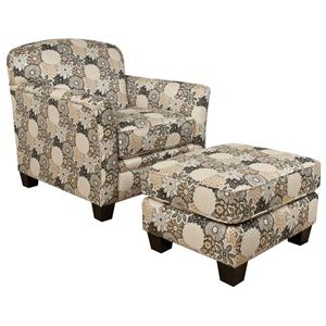 England Hilleary Chair and Ottoman Set