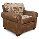 England Jaden Upholstered Chair - Item Number: 2264-Palance Pueblo