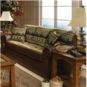 England Jaden Stationary Sofa with Large Rolled Arms - Alternate Fabric in Room Setting