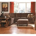 England Jeremie Sectional Sofa - Item Number: 723064N+39N+27N-Perdue-Bark