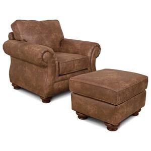 England Jeremie Chair & Ottoman