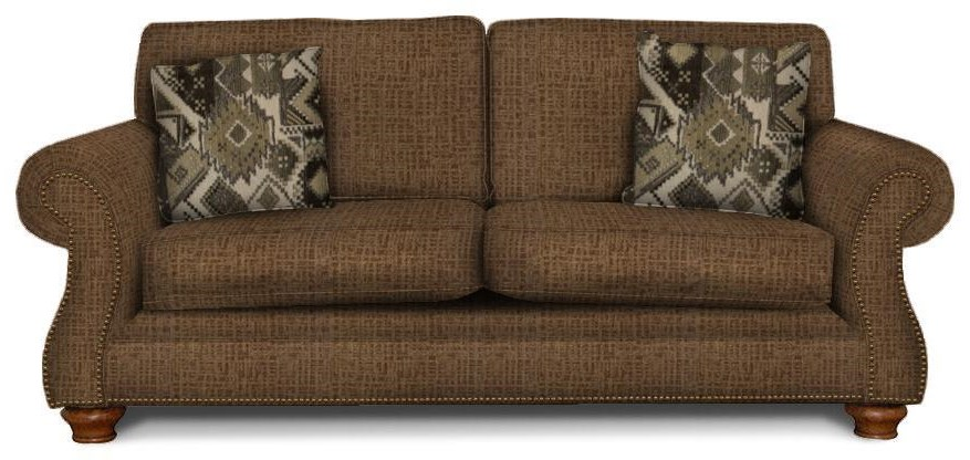 England Jeremie Two Cushion Sofa with Nailheads - Item Number: 7235RN-6945