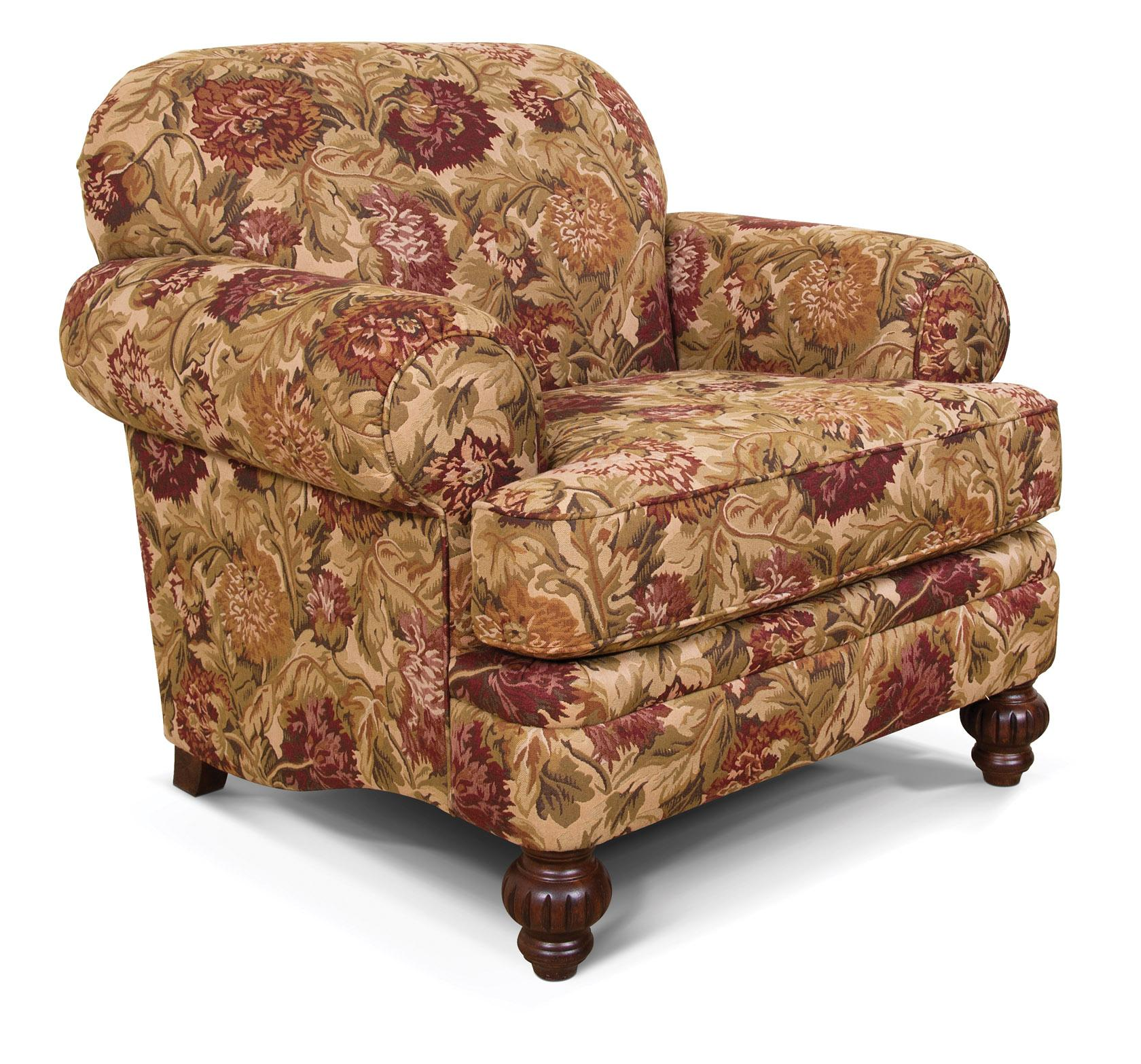 England Kathy Rolled Arm Upholstered Chair - Item Number: 2534