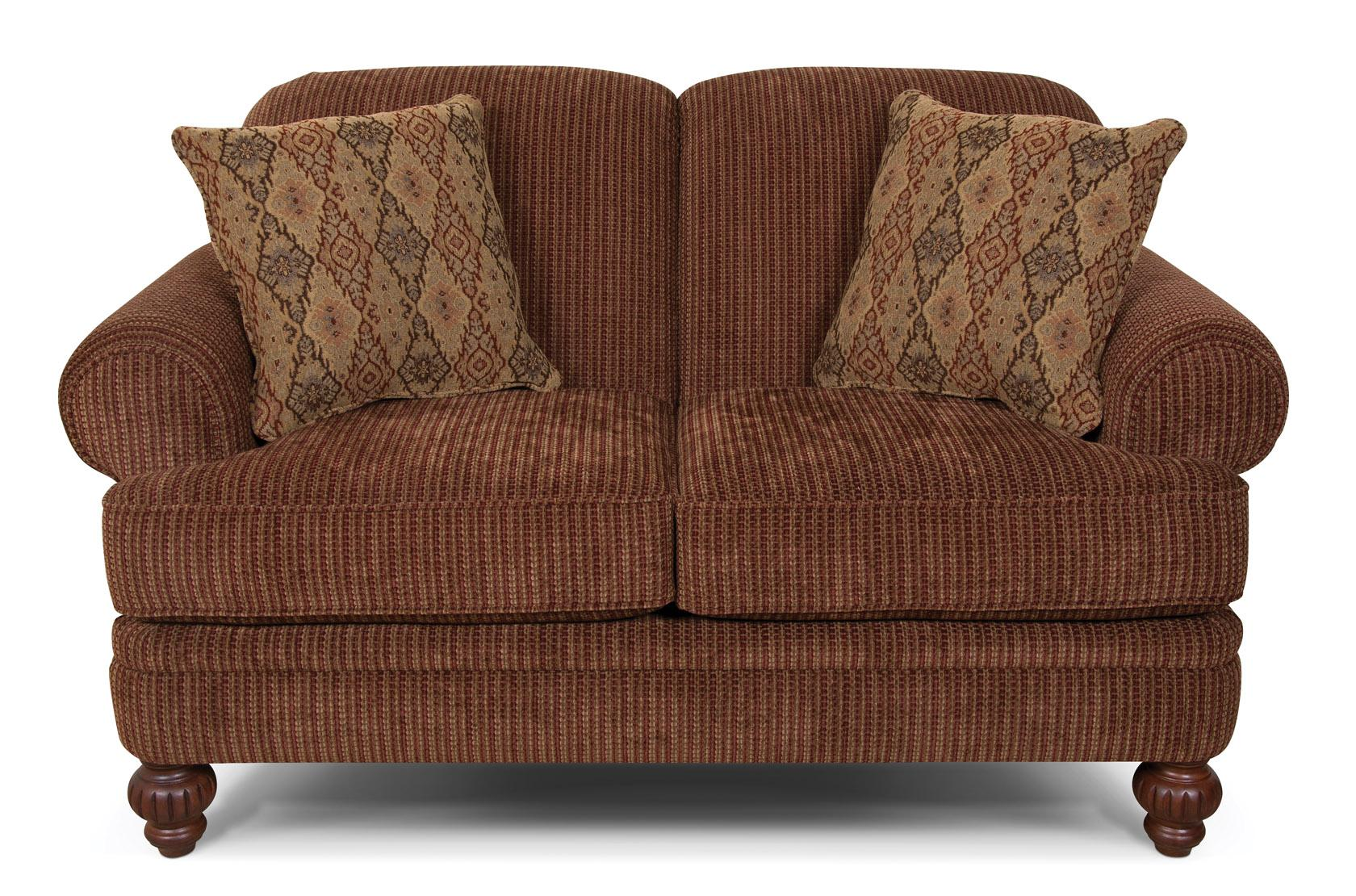 England Kathy Rolled Arm Loveseat - Item Number: 2636