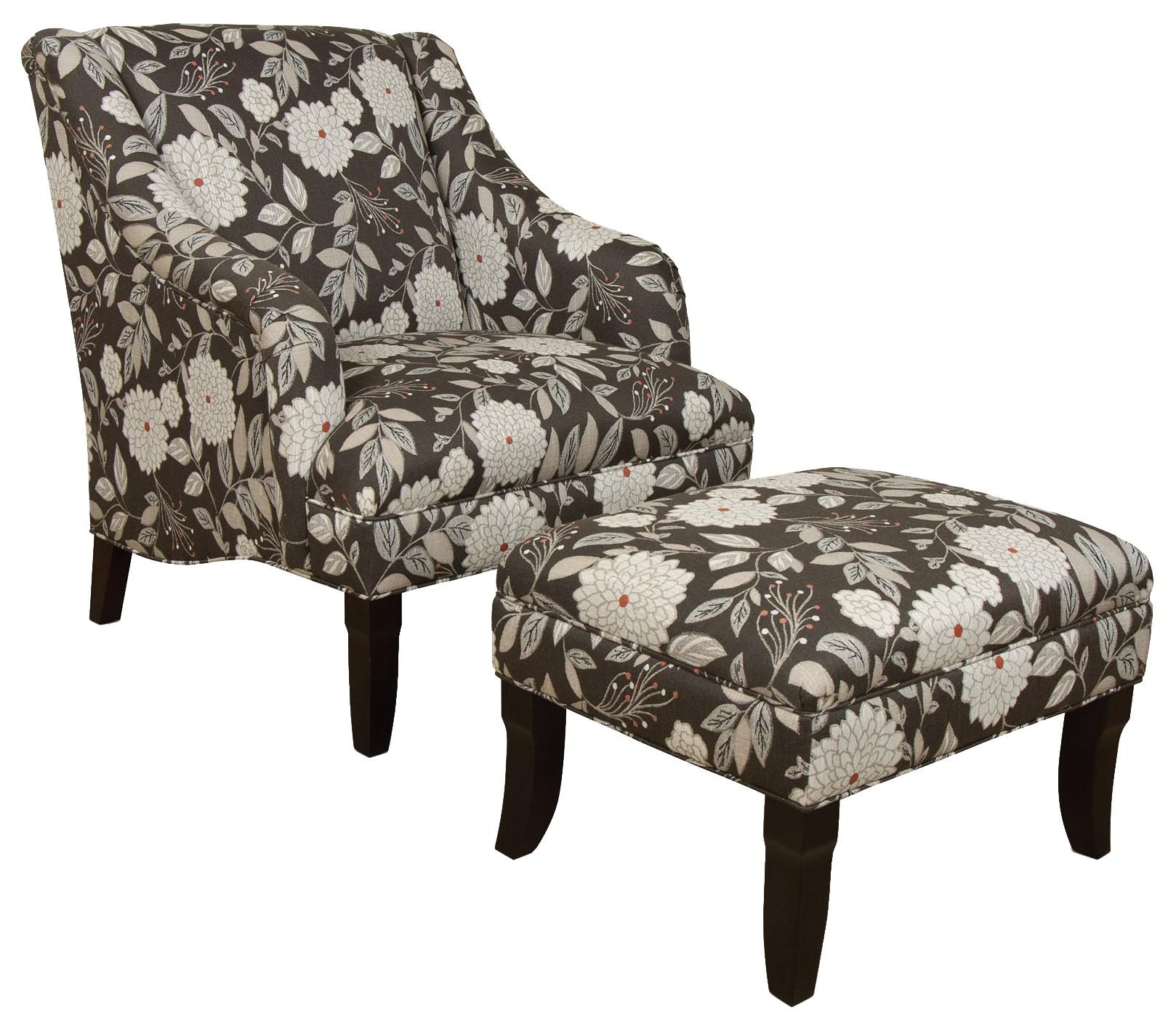 England Kinnett Chair and Ottoman Set - Item Number: 3934+7