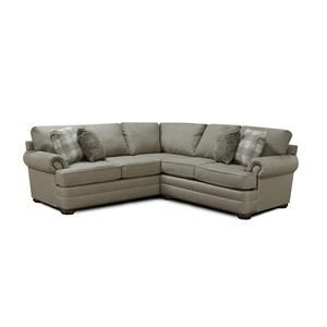 2 Piece Sectional with Nailhead Accents