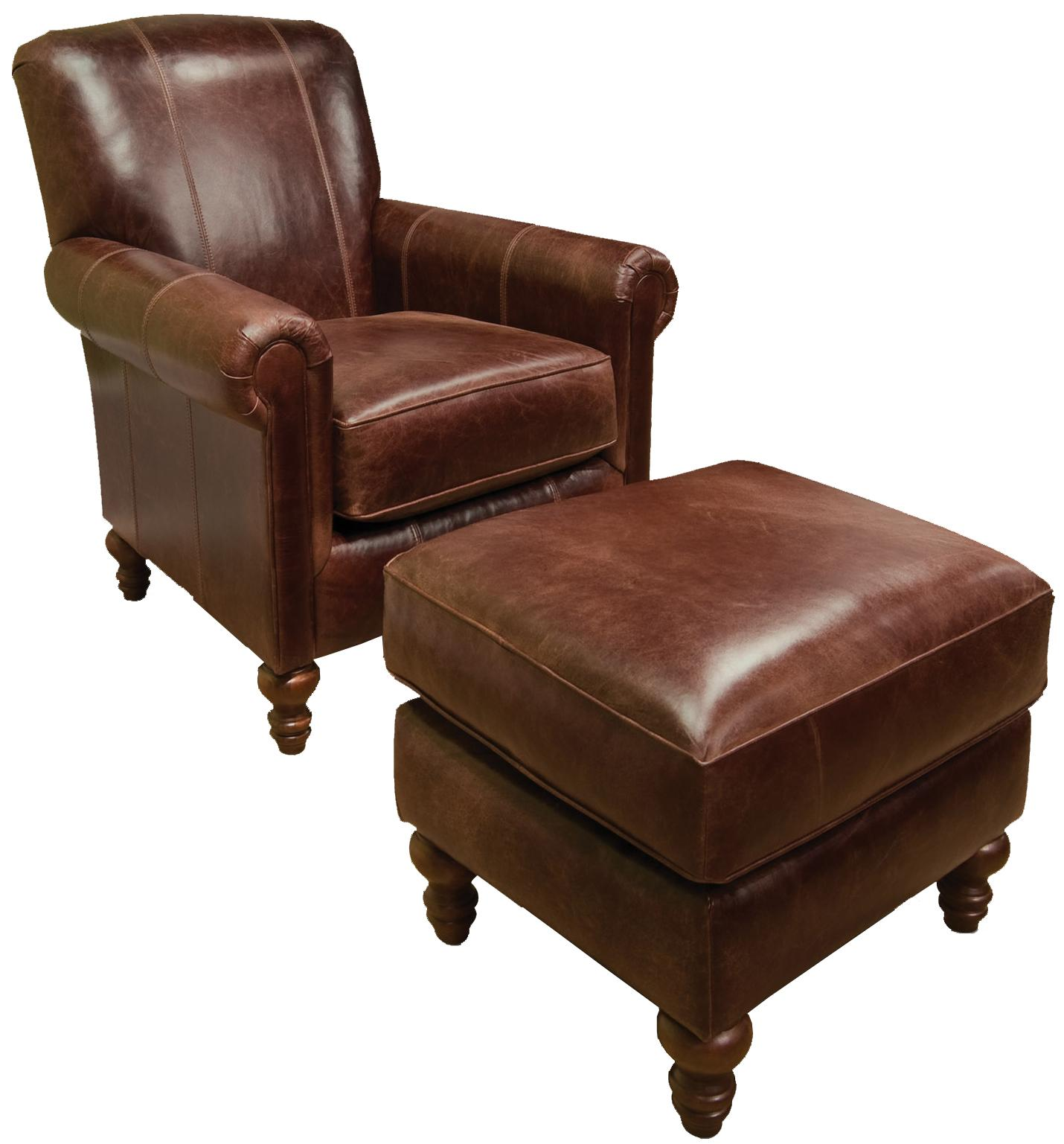 England Lane Chair and Ottoman - Item Number: 634AL+637AL