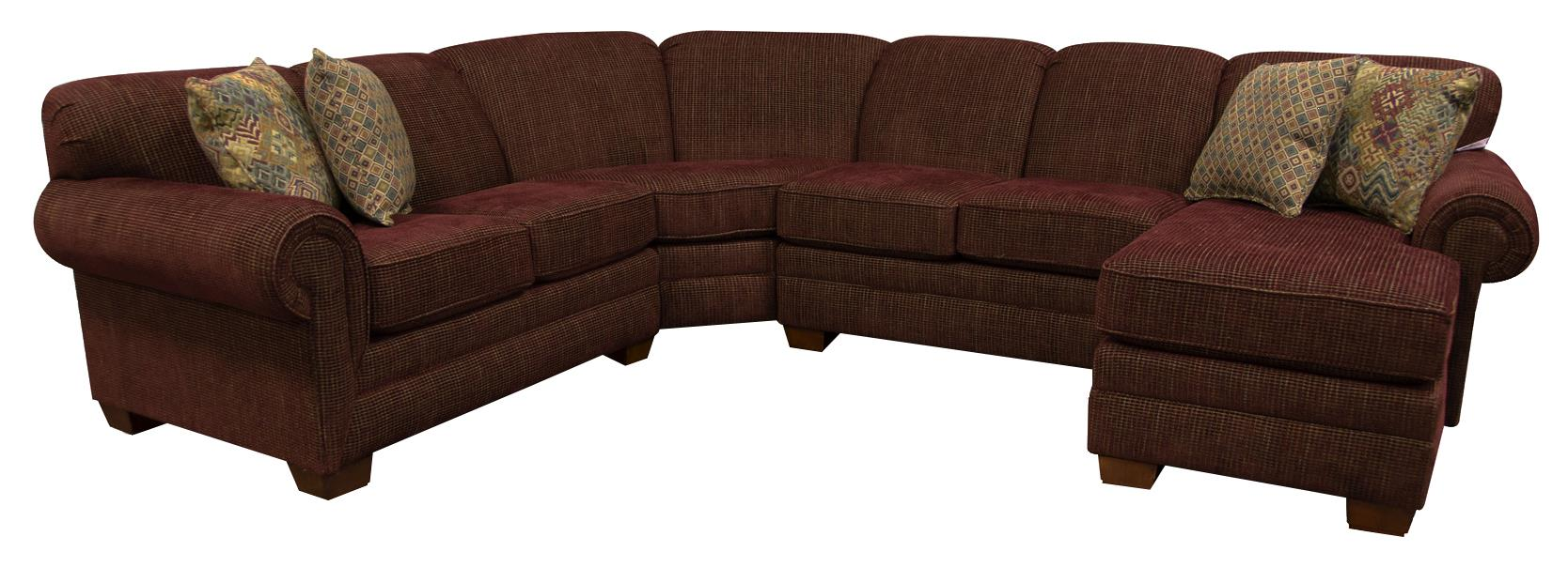 England Monroe Six Seat Sectional Sofa - Item Number: 1430-28+22+43+05-7231
