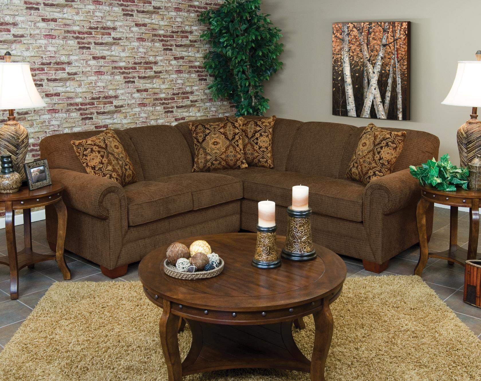 England Monroe Four Seat Corner Sectional - Item Number: 1430-28+22+27-5733