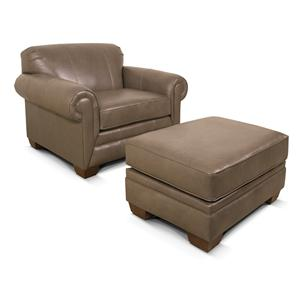 England Leah  Chair and Ottoman