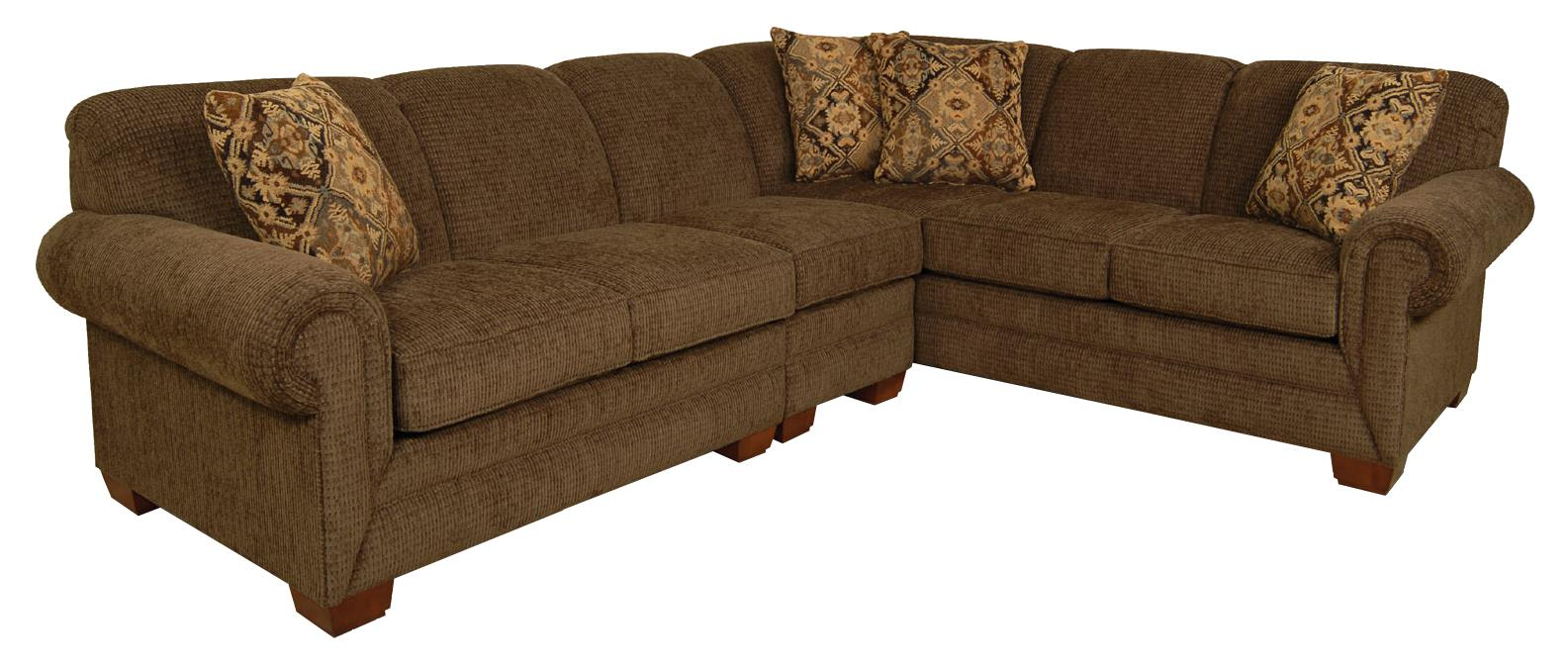 England Monroe Five Seat Sectional Sofa - Item Number: 4130-28+39+61-5733