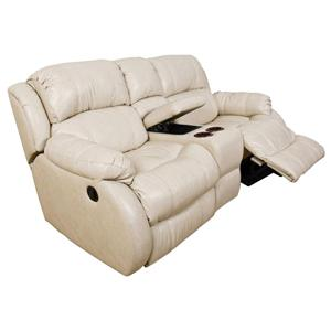 Double Reclining Loveseat Console with Power