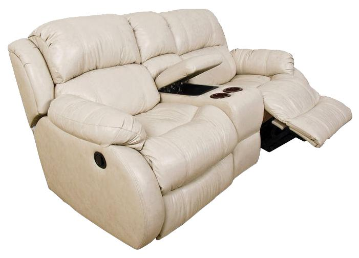 England Litton Double Reclining Loveseat Console  - Item Number: 201085L