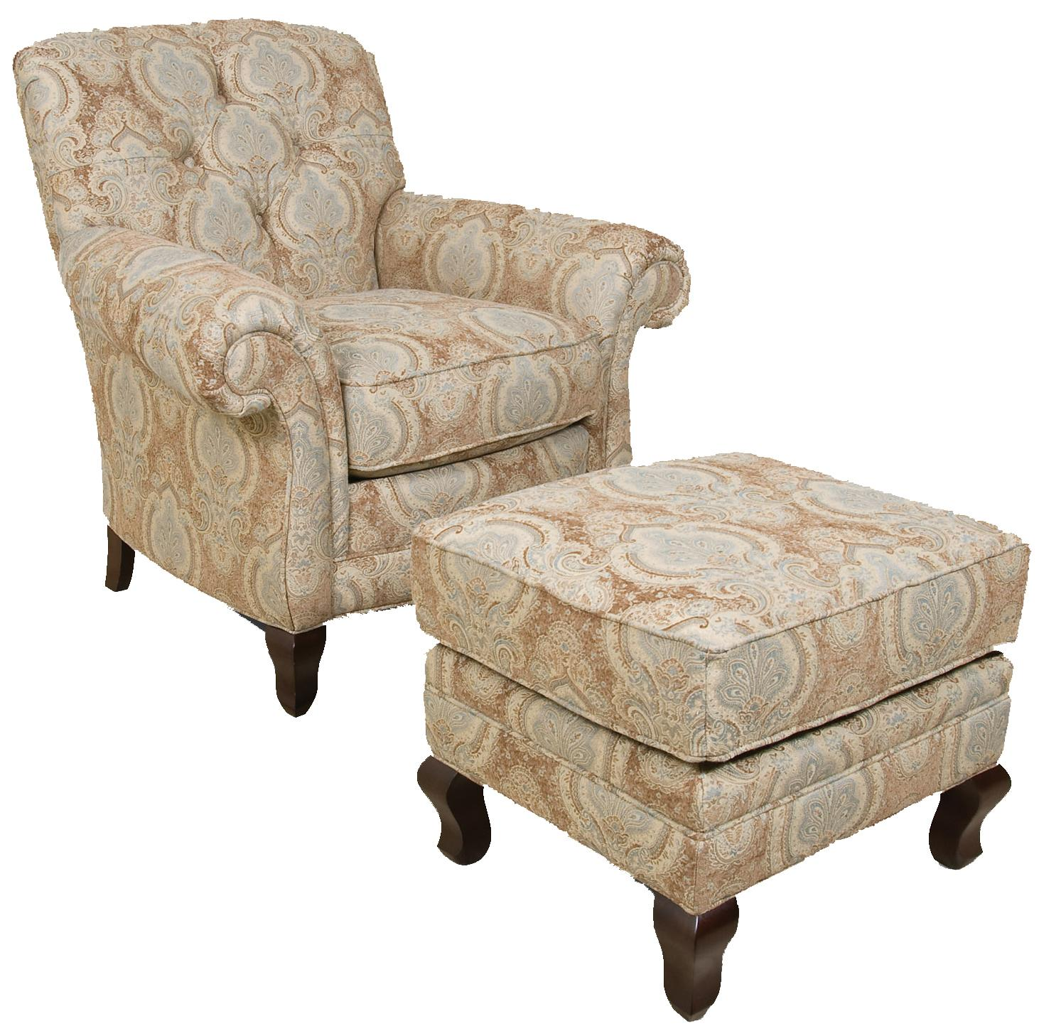 England Christopher Traditional Upholstered Chair And