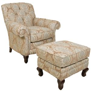 England Christopher Chair and Ottoman