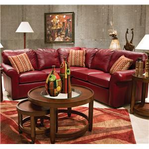 England Lochlan Leather Sectional