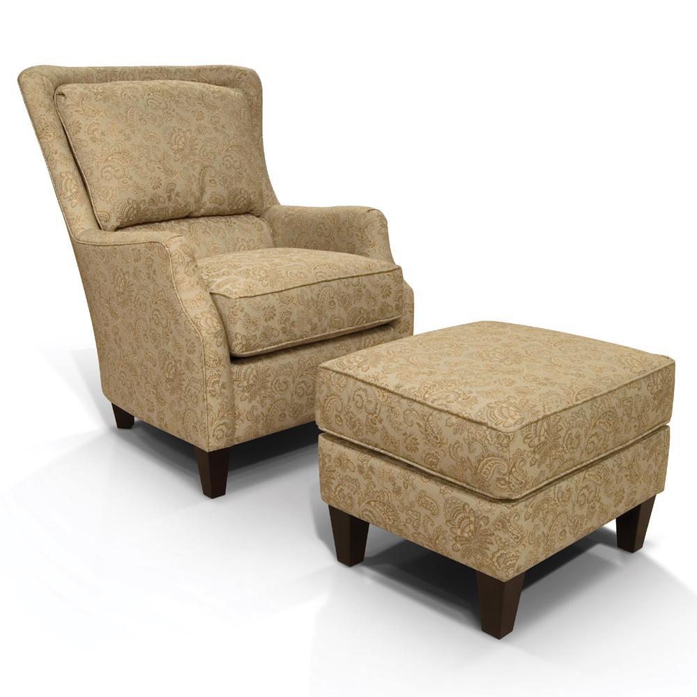 England Loren Plush Back Club Chair H L Stephens